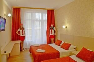 бронировать надежно семейный отель в Витязево Лучезарный Шведский стол
