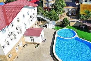 отель с бассейном у моря Санмаринн в центре Анапы недорого с питанием