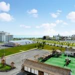 организовать отдых отель Екатерининский квартал Имеретинская бухта Олимпийский парк отдых в Адлере