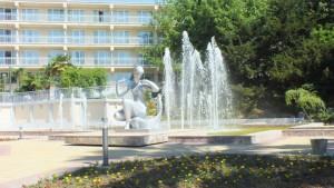 фонтан санаторий Зелена Роща элитный отдых Сочи Хоста