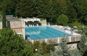 открытый бассейн санаторий Зелена Роща элитный отдых Сочи Хоста
