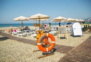 пляж Фрегат Адлеркурорт отдых в Сочи у мор