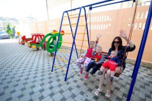 Отдых с детьми Витязево дет площадка песчаный пляж