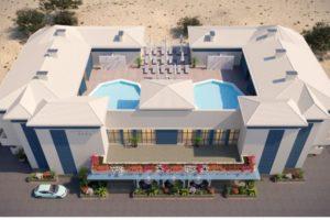 пляжный отель Белый песок Анапа вид сверху
