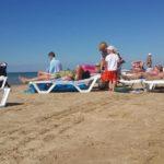 Дюны Джемете песчаный пляж отдых семьей на море